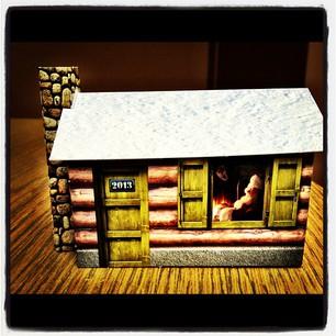 Weihnachtskarte Haus